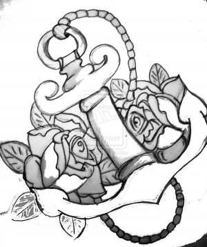 Drawings Of Anchors Tumblr Anchor and roses 2 by anaasera