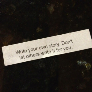 Write your own story ...