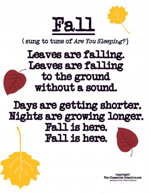 fall poem song for preschool, kindergarten, first grade-001