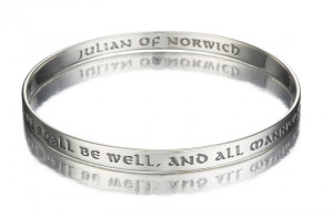 Julian of Norwich Bangle - All Shall Be Well Quote in Sterling Silver