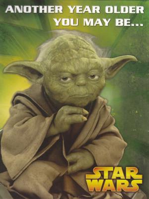 Star Wars - Yoda Birthday Card - Pop-up