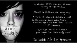 Almost 4 children die everyday because of abuse