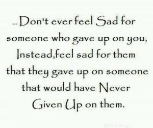 Don't ever feel sad