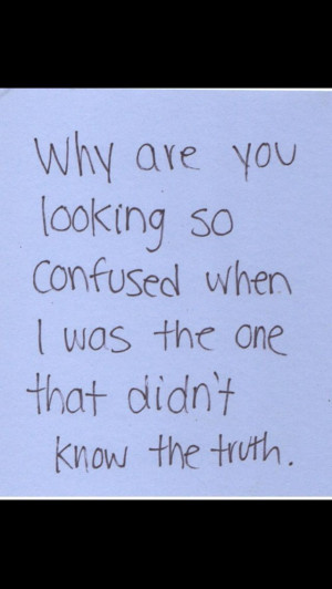 Why did you lie to me?