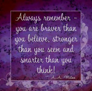 Always Remember - Winnie the Pooh Quote - 12x12 Word Art Prints ...