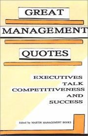 Cover of: Great Management Quotes by Management Books Martin