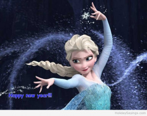 Funny Elsa Happy new year 2015 image