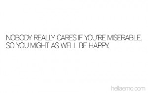 NOBODY REALLY CARES IF