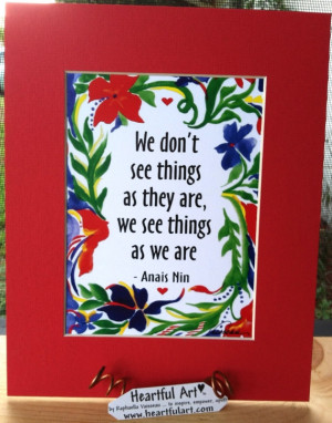 ANAIS NIN Inspirational Quote Motivational Print Friendship Family ...