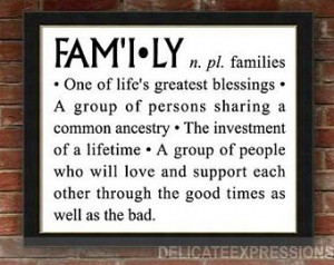 FAMILY definition - Vinyl Wall Art Lettering, Quotes, Decals by ...