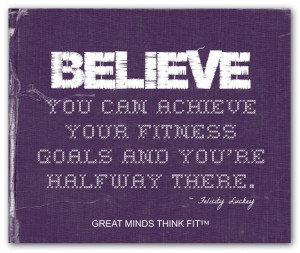 Purple Fitness Believe Poster