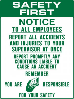 Safety First Report All Accidents & Injuries