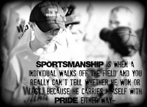 Sportsmanship in youth sports~