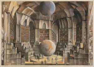 Érik Desmazières: La Salle des planètes , from his series of ...