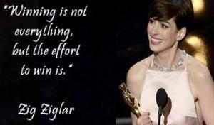 Monday quote with Zig Ziglar and oscar winner Anne Hathaway