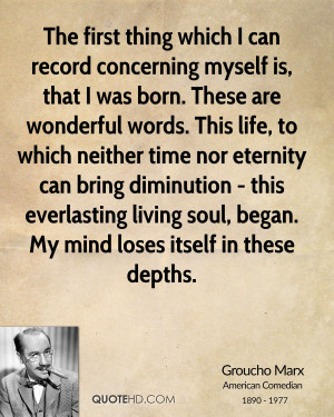 ... time nor eternity can bring diminution - this everlasting living soul