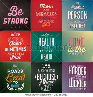 Empowering Quotes Package (Vector Illustrations) - stock vector