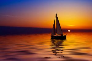 Enjoylife › Portfolio › Sailboat against a beautiful sunset