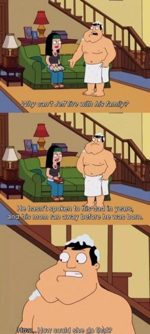 Sad American Dad Quote On Jeff's Past & Family
