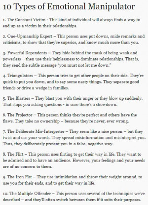 10 types of emotional manipulators - this is so important to watch out ...