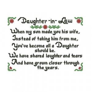 ALL STITCHES - DAUGHTER IN LAW CROSS STITCH PATTERN .PDF -575