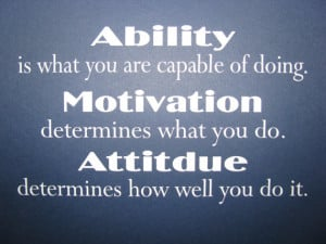Workplace Quotes About Attitude Ability motivation attitude