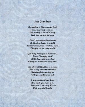 and Grandson Poems http://www.etsy.com/listing/120577014/grandson-poem ...
