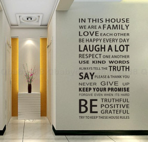 In this House rules Wall Quotes decals Removable stickers decor Vinyl