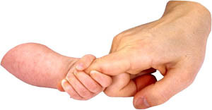 Little baby hand holding on to man's index finger: Cute Short love ...