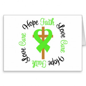 Mental Health Awareness Faith Hope Love Cross Greeting Cards
