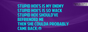 Stupid hoe's is my enemy stupid hoe's is so wackstupid hoe should've ...