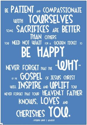 Forget Me Not- Pres Uchtdorf