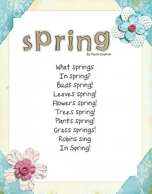 Spring Poems That Rhyme Spring poems that rhyme spring