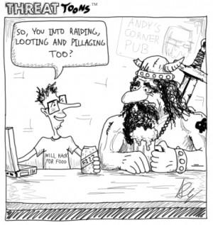 Funny Viking Drinking Cartoon Tshirts