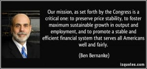 More Ben Bernanke Quotes