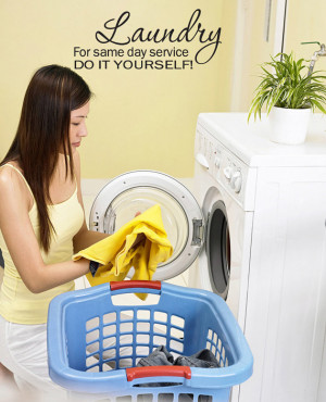 Laundry Room Funny Wall Quote Decal Home Decor (v228)