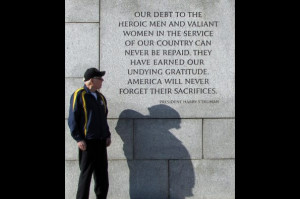 ... quote by president harry s truman while visiting the world war ii