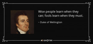 Duke of Wellington Quotes