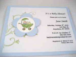 Cute As a Bug Baby Boy Shower Invite