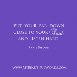 Listening to Your Soul...