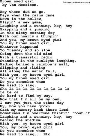 Download Brown Eyed Girl as PDF file (For printing etc.)