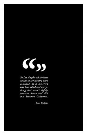 Typography in LA Quotes Saul Bellow
