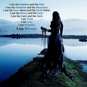 not Wiccan but I love everything else about this pic./saying.