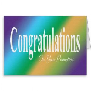 congratulation promotion cards