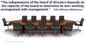 Inspiring quote about board of directors