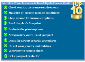 10 Online Travel Insurance & Travel Tips to Use as a Guide