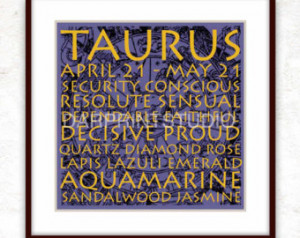 ... Signs Taurus Quotes Digital Decorative Art DIY JPG Print 8