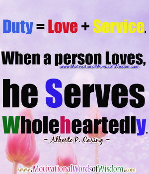 Serve God Quotes Duty quotes, inspirational