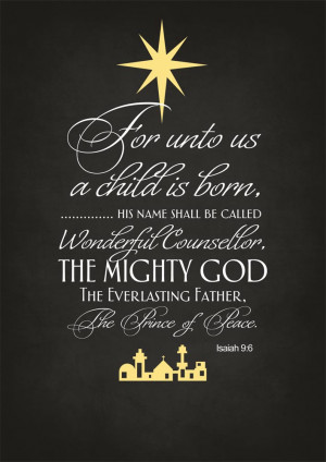Home > Christmas Cards > Religious > Isaiah 9:6