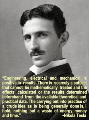 Engineering Quote of the Week - Nikola Tesla